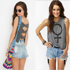 Womens Summer Vest Top Short Sleeve Backless  Blouse Casual Tank Tops T-Shirt