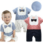 Baby Boy Summer Bow Tie Tuxedo Suit - Smart Casual Baby Clothes 3 6 12 18 24M