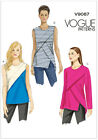 Vogue 9087 EASY Striking Top Sleeveless Long Sleeves Sewing Pattern V9087