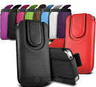 DURABLE COLOUR MAGNETIC BUTTON PULL TAB POUCH COVER CASE FOR ALL SAMSUNG MOBILES
