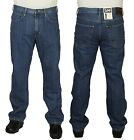 MENS NEW LEE BROOKLYN STRAIGHT REGULAR FIT JEANS IN STONEWASH COLOUR 30 TO 42