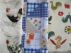 PICNIC CLOTH THROW FOOD COVER WEIGHTED CORNERS WASHABLE COTTON FABRIC PRINT