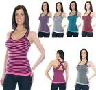 Icon Apparel Cross Back Strap Tank Top with Padded Bra (Multiple Colors Avail)
