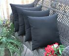"Set of 4 ~ 17"" Square Decorative Throw Pillows ~ In Outdoor ~ Select Solid Color"
