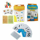 Kid's Flash Card Kinder-garden Play Pocket Numbers 0-100 Alphabet Cards Activity