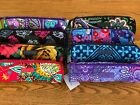NWT Vera Bradley ON A ROLL CASE small cosmetic brush pencil 4 tote backpack