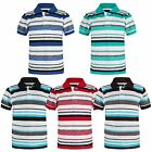 BOYS STRIPY POLO SHIRT KIDS PIQUE SHORT SLEEVE SUMMER T-SHIRT TOP SIZE 3-14 YEAR