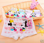 10PCS Cute Minnie Mickey Boxers Briefs Underwear Boyshorts for Girls Kids 4T-10T