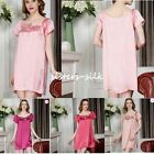 Women's 100% Silk Chemise Babydoll Full Slips Sleepwear 16 Momme Charmeuse AS305