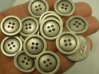 New lot of 10 Silver / Nickel metal  buttons Blazer Jacket 13/16 or 20 mm #S24