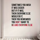 Be Different Gym Motivational Wall Decal Quote Fitness Health Weight Loss Diet