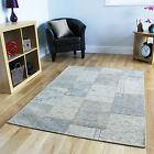 Thin Cotton Beige Patchwork Modern Rugs Quality Hand Woven Small Large Rug UK