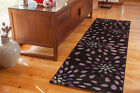 Soft Touch Opulent Purple Hallway Runner Rugs Long 70x240cm Petal Rug Runners