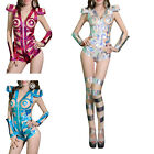 ST Womens Sexy Jumpsuit + Leg-sleeve Club Party Dance Wear Jazz Costume Clothes