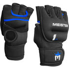 1LB MEISTER WEIGHTED WORKOUT GLOVES - BLACK Heavy Hands Boxing Cardio Turbo Jam