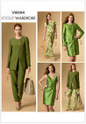 Vogue Wardrobe 9094 EASY Jacket Top Dress Trousers Pants Sewing Pattern V9094