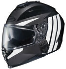 HJC IS-17 GRAPPLE HELMET MOTORCYCLE STREET RIDING WITH SUN SHIELD SILVER DOT NEW