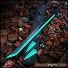 "28"" NINJA SAMURAI Full Tang SWORD KATANA Machete w Throwing Knives Set Kunai"