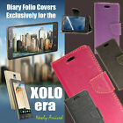 Diary Wallet Style Folio Flip Flap Case Cover For Xolo Era / Screen Guard