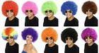 AFRO WIG DISCO FUNKY 70's RED PINK, BLUE BLONDE BLACK