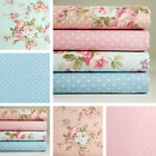 Lot of 4 Fat Quarters / 1yard 100% Cotton Fabric Floral Dot Sewing Craft m-242