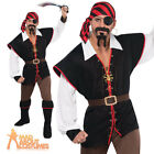 Rebel of the Sea Pirate Costume Mens Fancy Dress Halloween Buccaneer Outfit New