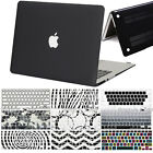 Black Rubberized Hard Case +Silicon Keyboard Cover for Macbook Air Pro Retina