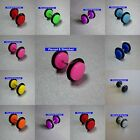 Fake Ear Plugs - Earrings Neon Colours available in Dics Sizes of 6mm, 8mm, 10mm