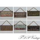 Vintage Funny Sign Rustic Metal Plaque Humorous Sayings for the Home Office