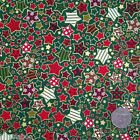 GREEN All Stars Christmas fabric  100 % cotton per 1/2 mtr or per FQ
