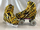 Electric Gold Boot Covers for RollerSkates and Ice Skates  S,M,L