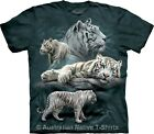 White Tiger Collage Adults Tie Dye The Mountain T-Shirt - Regular/Plus Sizes NEW