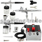 OPHIR Pro 3-Airbrush Air Compressor Kit 0.2mm 0.3mm 0.35mm for Hobby Body Paint