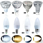 4 6 10x 3W 4W 6W E14 E27 B15 B22 GU10 MR16 LED Bulbs SMD Candle Bulb Spotlight