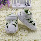 The fashion girl boy white Sandals crib shoes size 0-6 6-12 12-18 Month