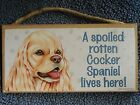 Cocker Spaniel Plaque or Keychain Gift for Dog Lover NEW
