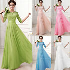 Women's Long Summer Lace Cocktail Sundress Prom Cocktail Wedding Gown Dresses