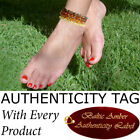 Authentic RAW BALTIC AMBER ADULT ANKLETS natural health AGbA® Certified