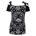Banned - Womens Black Solace Ouija Eye Short Sleeve Top - Gothic Occult Blouse