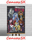 Monster High XL Large Framed Canvas Print Picture Girls Bedroom Wall Art Dolls