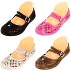Womens Jelly Mary Jane Shoes Crochet Hollow Plastic Rubber Sandals Garden Water
