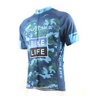 XINZECHEN Camouflage Bl Bike Short Sleeve Top Shirt Bicycle Cycling Jersey S-3XL