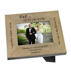 Dad Father Bride Wooden Photo Frame 7x5 Personalised Engraved Wedding Gift