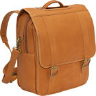 Le Donne Leather Convertible Backpack/Laptop Brief Laptop Backpack NEW