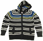 Urban Extreme Little Boys' Long Sleeve Warm Striped Hooded Cardigan Sweater