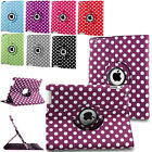 For iPad 2 3 4 Air 1/2 mini Pro Rotating Leather Case Smart Cover Swivel Stand