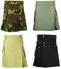 Cotton Kilt Scottish Deluxe Army Tartan Goth Outdoor Utility Highland skirt
