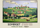 Somerset Travel by Train -  Railway Travel Poster reproduction