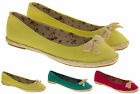 Ladies Odeon Espadrille Ballet Pumps Casual Flat Womens Canvas Shoe Size 3 4 5 6