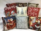 "Christmas Tapestry Cushion Covers in lots of  designs, 18""x18"", Lovely quality"